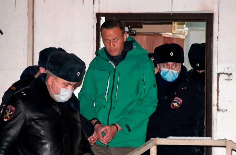 مخالف ولادیمیر پوتین بعد از دادگاه