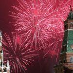 آتش بازی بزرگ به مناسبت روز ۹ می در روسیه